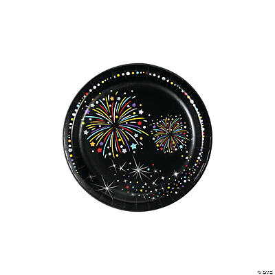 New Year's Sparkle Paper Dessert Plates