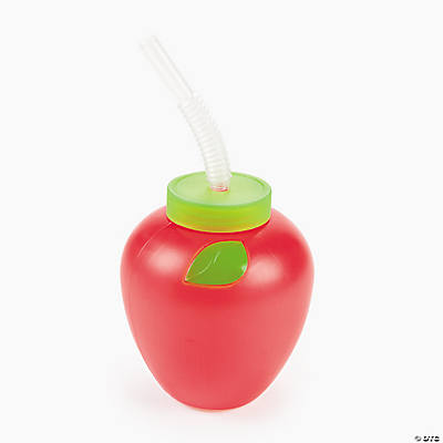 New York Apple-Shaped Cups with Straw