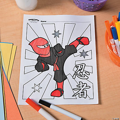 Ninja Free Printable Coloring Page Idea
