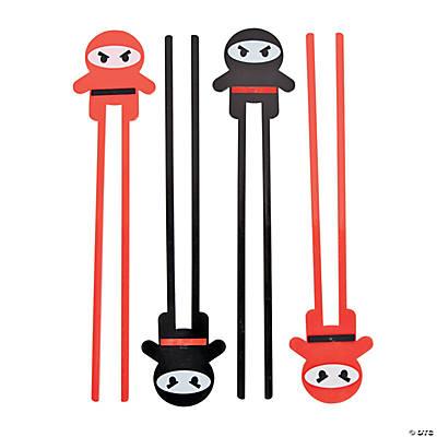 Vibrant Hot Pink Cute Ninja Chopsticks