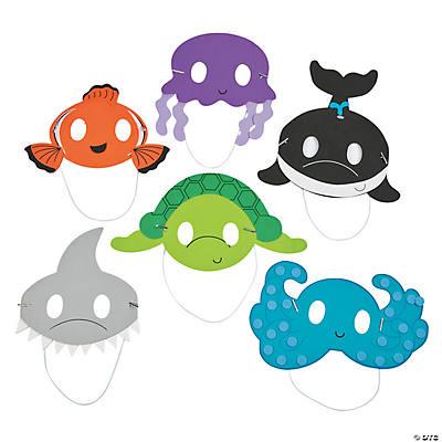 ocean animal mask craft kit   oriental trading