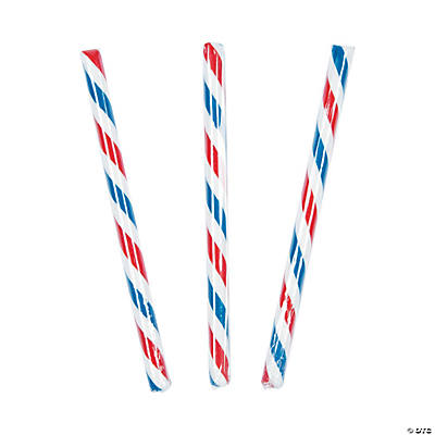 Old-Fashioned Patriotic Hard Candy Sticks