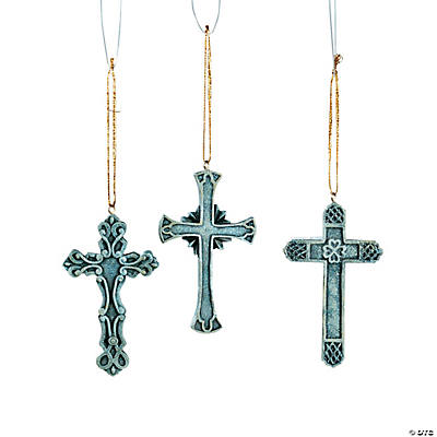 Old World Cross Christmas Ornaments