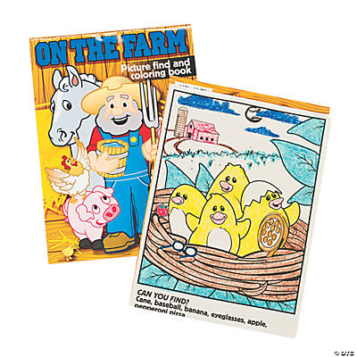 """On the Farm"" Picture Find & Coloring Books"