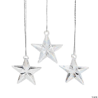 Opalized Star Christmas Ornaments