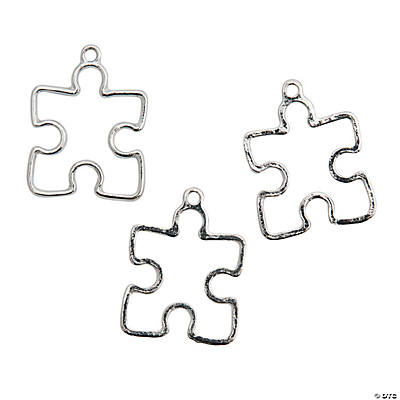Openwork Puzzle Piece Charms