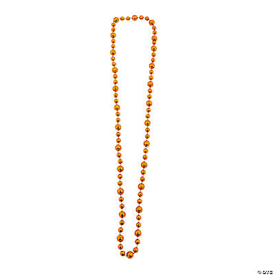 Orange Basketball Beaded Necklaces