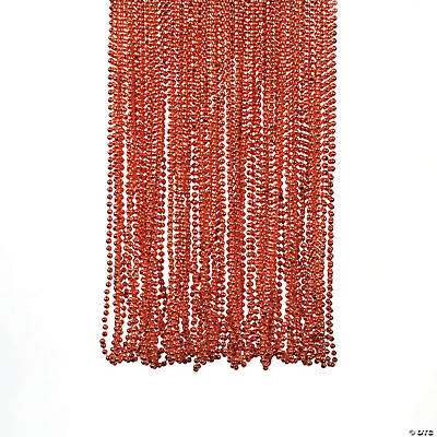 Orange Bead Necklaces