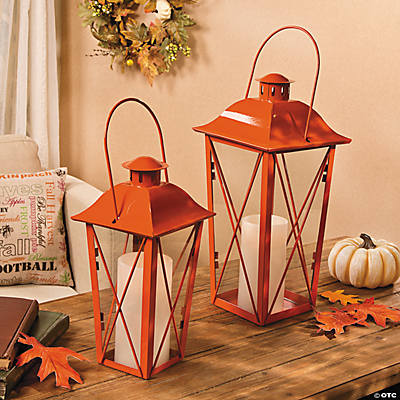 Orange Metal Lanterns