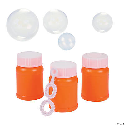 Orange mini bubble bottles for Mini bubble wands