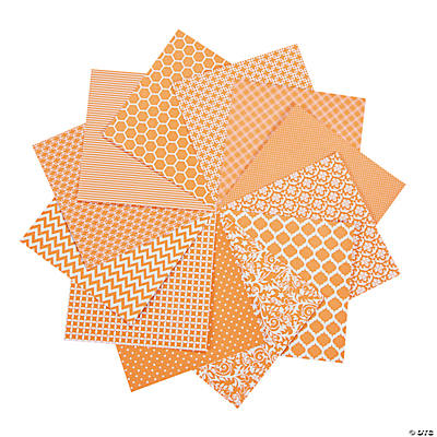 "Orange Monochromatic Paper Pack - 6"" x 6"""