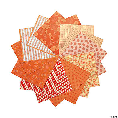 "Orange Monochromatic Paper Pack - 12"" x 12"""