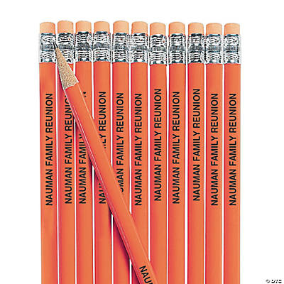 Orange Personalized Pencils