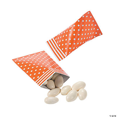 Orange Polka Dot Sour Cream Favor Containers