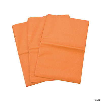 60 Orange Tissue Paper Sheets