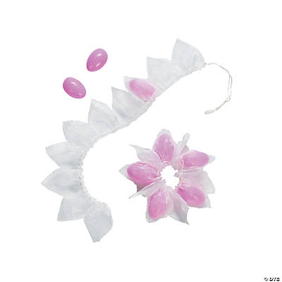 Organza Flower Ribbon Favor Bags