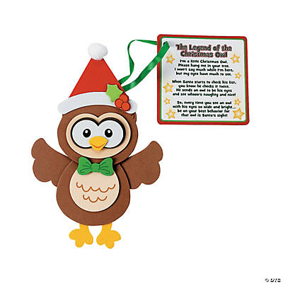 Owl Christmas Ornament with Poem Craft Kit