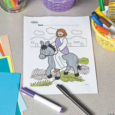 Palm Sunday Free Printable Coloring Page
