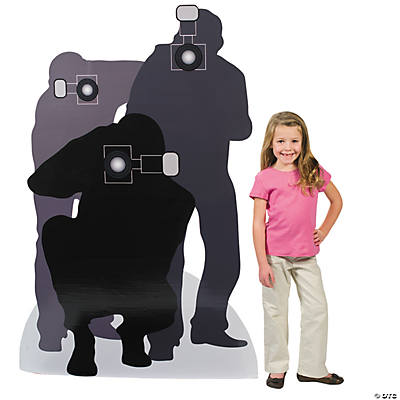 paparazzi silhouette cardboard stand up