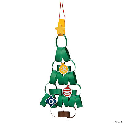 Paper Chain Christmas Tree Craft Kit