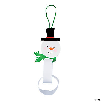Paper Chain Snowman Ornament Craft Kit