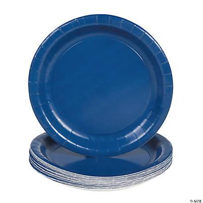 paper dessert plates navy blue oriental trading. Black Bedroom Furniture Sets. Home Design Ideas