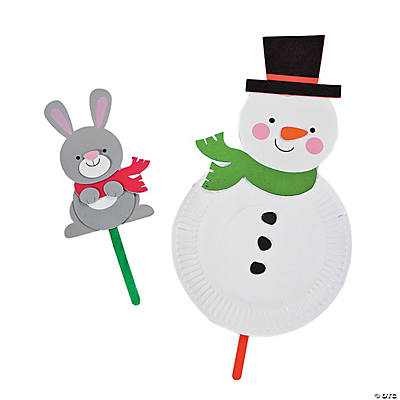 Paper Plate Chubby Snowman Craft Kit