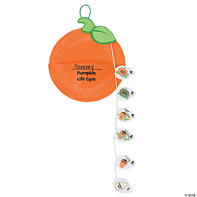 Paper Plate Pumpkin Life Cycle Craft Kit