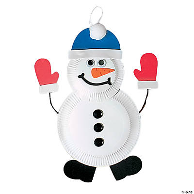 Paper Plate Snowman Craft Kit