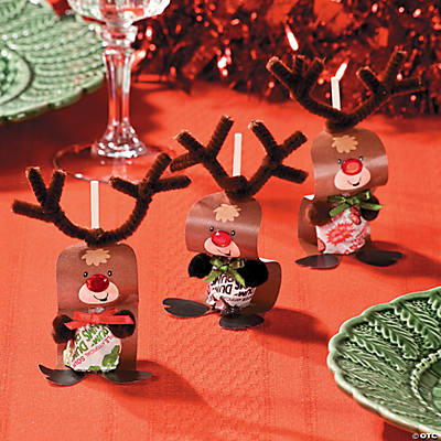 Paper reindeer pops craft idea for How to make christmas crafts for gifts