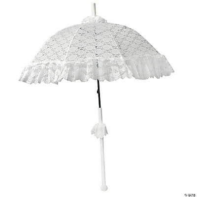Parasol Deluxe Lace Ruffle White