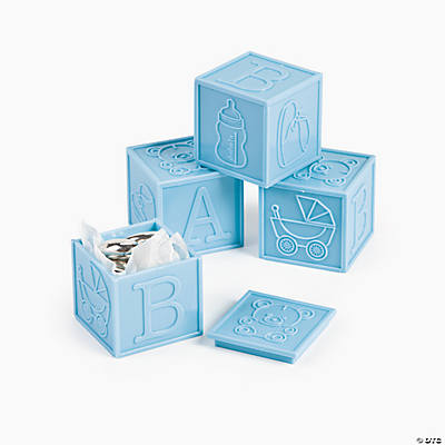 Pastel Blue Baby Block Favors