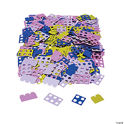 Pastel Color Brick Party Confetti