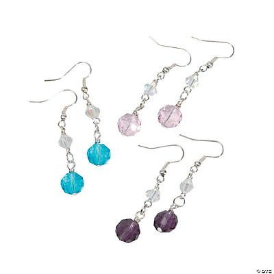 Pastel Crystal Earrings Kit