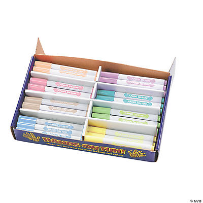 Pastel Fabric Markers Classpack