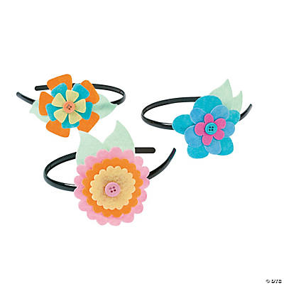 Pastel Flower Headband Craft Kit