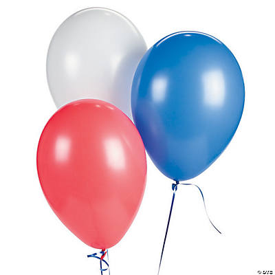 "Patriotic 11"" Latex Balloon Assortment"