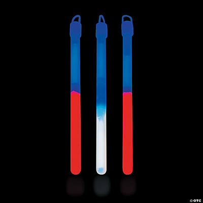 Patriotic Bi-Color Premium Glow Sticks