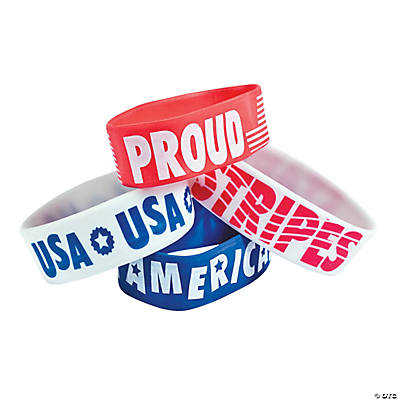 Patriotic Big Band Rubber Bracelets