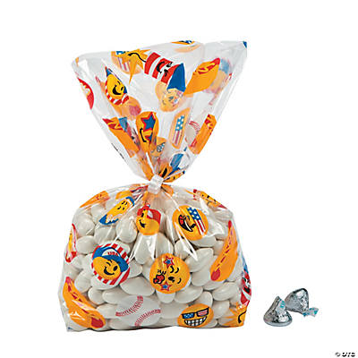 Patriotic Emoji Cellophane Bags