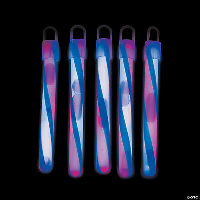 Patriotic Glow Swizzle Glow Sticks