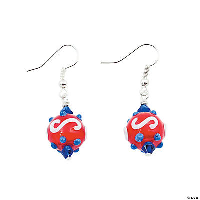 Patriotic Lampwork Earrings Kit