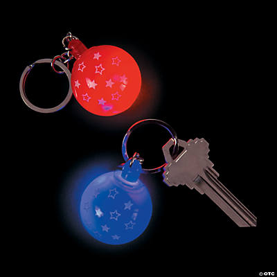 Patriotic Light-Up Keychains