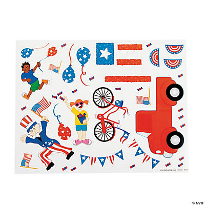 Patriotic Parade Sticker Scenes