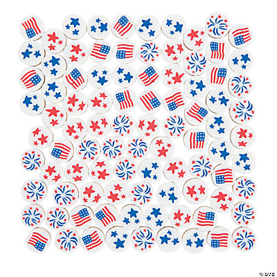 Patriotic Polymer Beads - 10mm