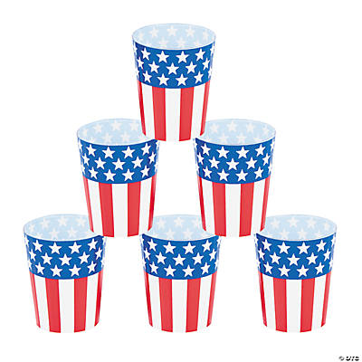 Patriotic Shot Glasses - Oriental Trading - Discontinued