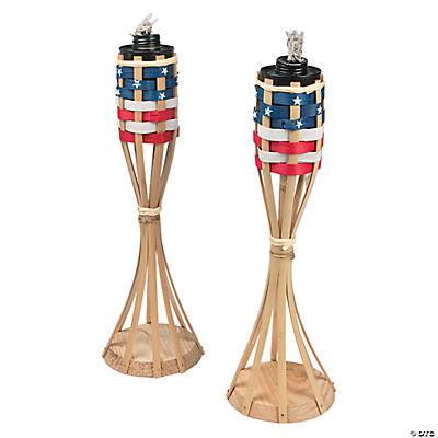 Patriotic Tabletop Tiki Torches