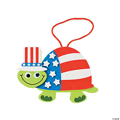 Patriotic Turtle Ornament Craft Kit