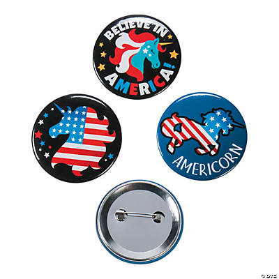 Patriotic Unicorn Buttons