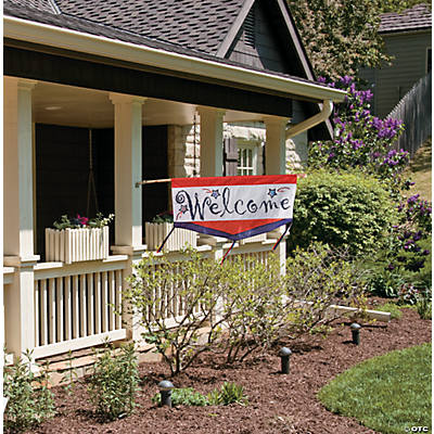Patriotic welcome flag oriental trading discontinued for Patriotic welcome home decorations